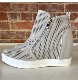 Shoes 54 Pumped Up Wedge Zipper Light Grey Sneakers