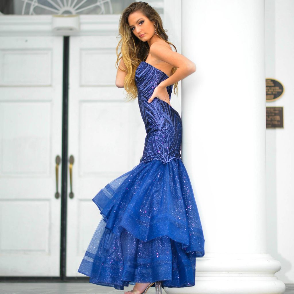 Formalwear One Wish Navy Formal Dress