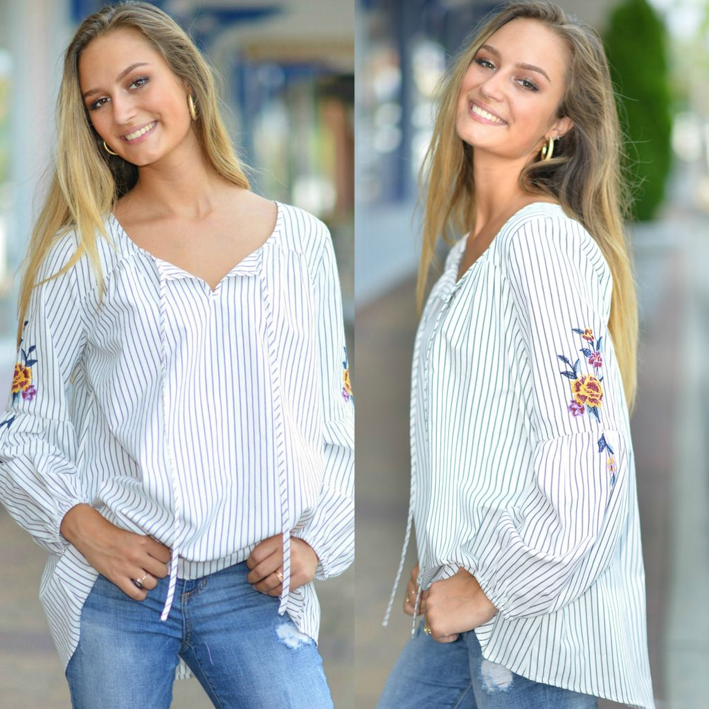 Tops 66 Emily Fall Embroidery Top