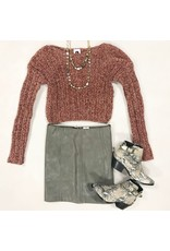 Skirts 62 Love Of Leather Grey Skirt