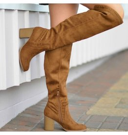 Shoes 54 Walk Into Winter Suede Chestnut Tall Boot