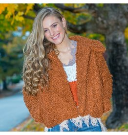 Outerwear Warm and Wooly Rust Coat