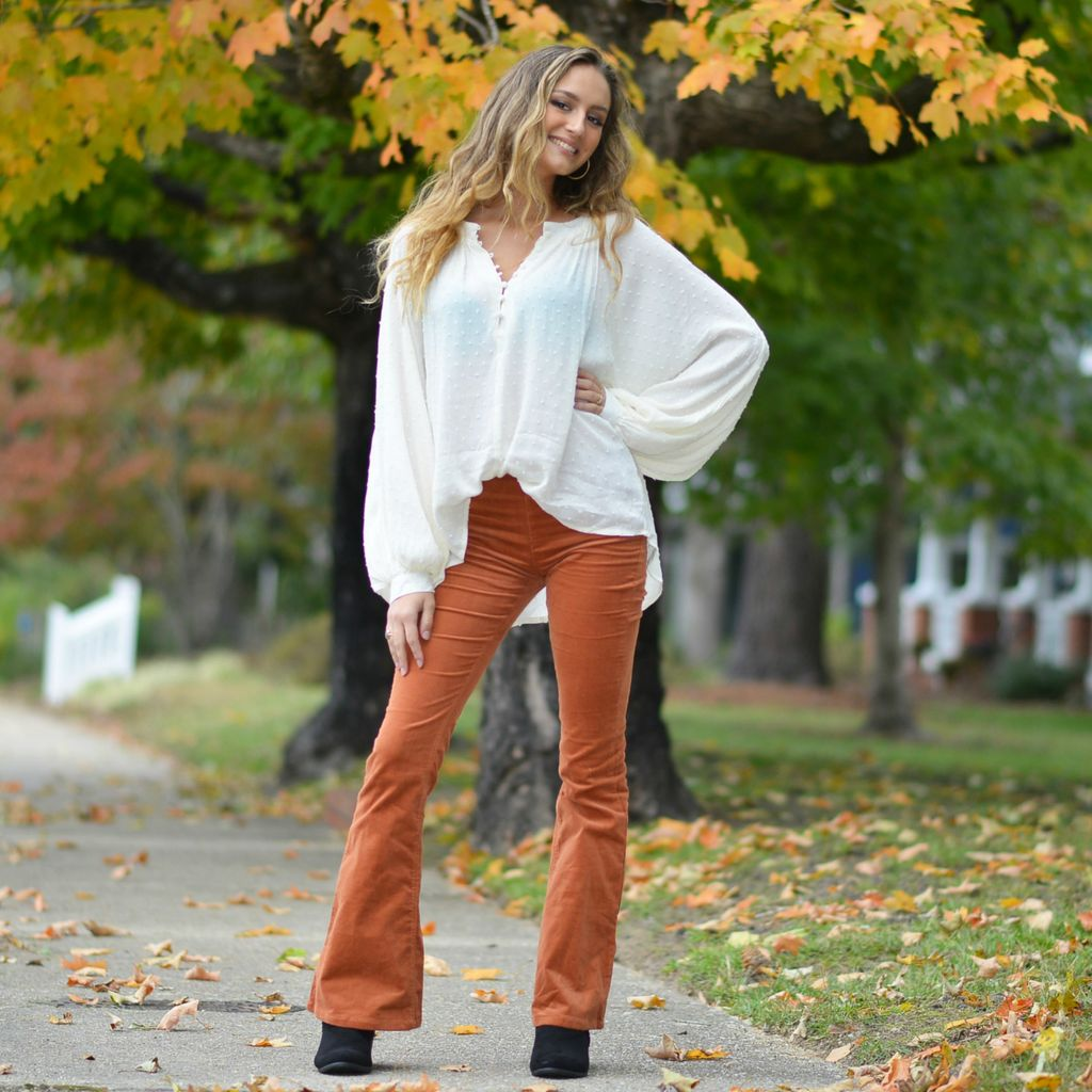 Pants 46 Dare To Flare Pumpkin Spice Corduroy Flares