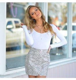 Skirts 62 Say It Loud Snakeprint Skirt