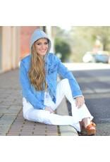 Outerwear Denim Hoodie Jacket