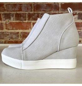 Shoes 54 Serita Suede Grey Wedge Sneaker