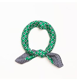 Accessories 10 Color Dots Silk Green Bandana Scarf