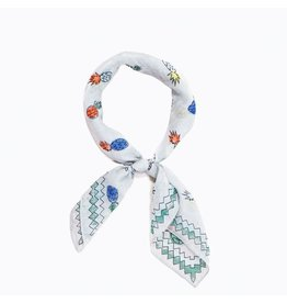 Accessories 10 Pineapple Print Grey Bandana Scarf