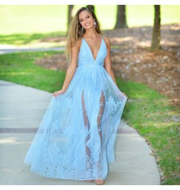 Default Ever After Matters Light Blue Tulle Dress