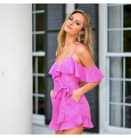 Rompers 48 My Love Pink Ruffle Romper