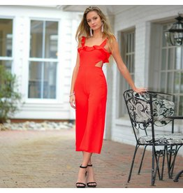 Jumpsuit Ruffle Dream Red Jumpsuit