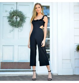 Jumpsuit Ruffle Dream Black Jumpsuit