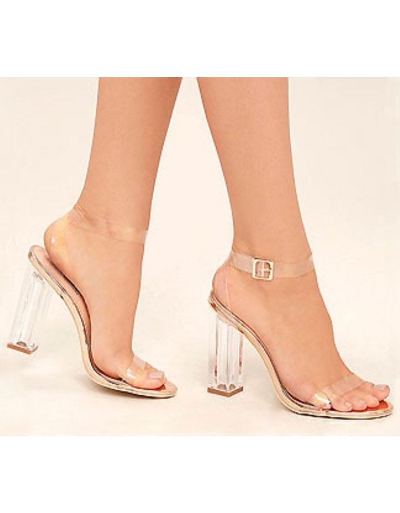 Shoes 54 Enchanted Nights Clear Block Heel