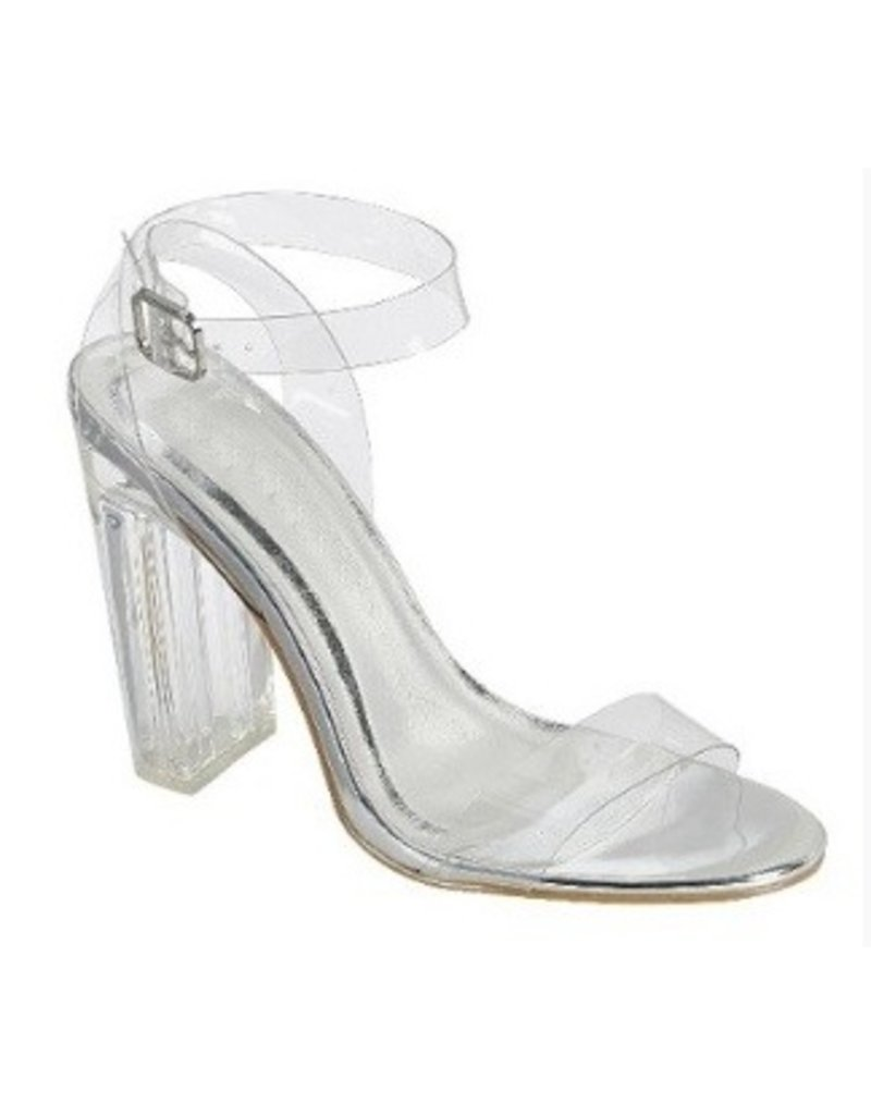 Shoes 54 Enchanted Nights Clear Block Heel