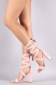 Shoes 54 Wrap It Up Blush Pink Heel