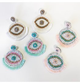 Jewelry 34 Eye Candy Circle Bead & Tassel Earrings