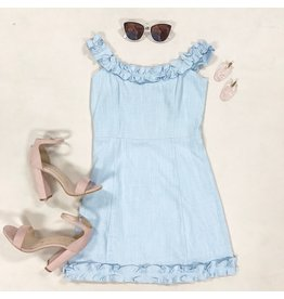 Dresses 22 Chambray Love Ruffle Dress