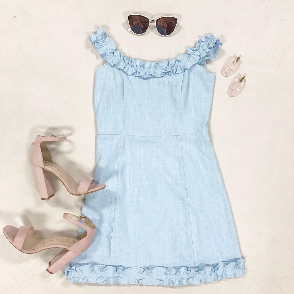 Dresses 22 Chambray Love Ruffle Dress