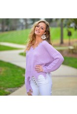Tops 66 Spring Party Started Lavender Sweater
