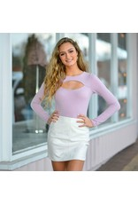 Tops 66 Key Hole Lavender Bodysuit