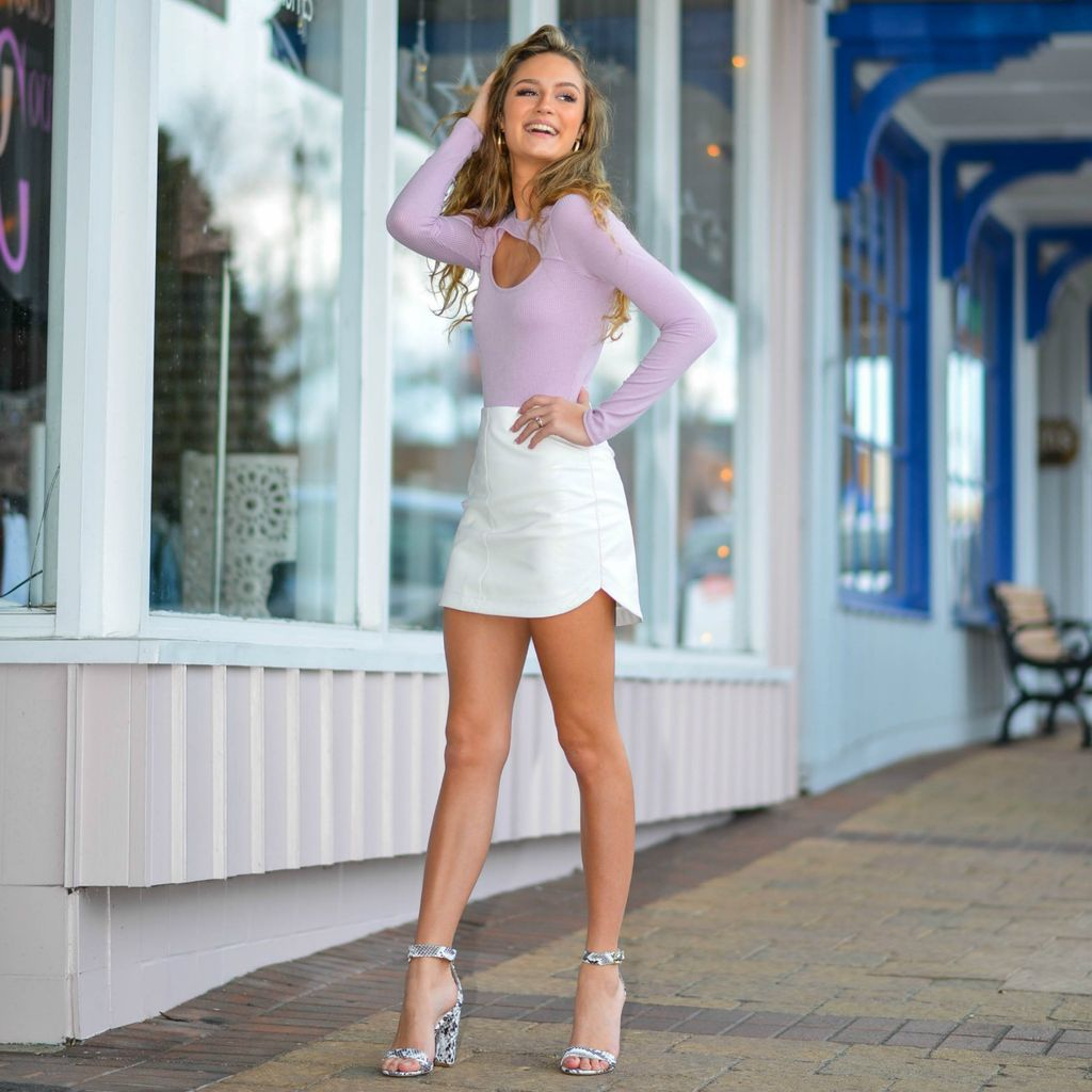 Skirts 62 Leather White Skirt