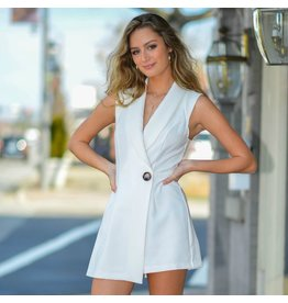 Rompers 48 Best Impression White Button Front Romper