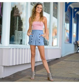 Shorts 58 High Waisted Button Front Shorts