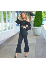 Jumpsuit Ruffle Riot Black Jumpsuit