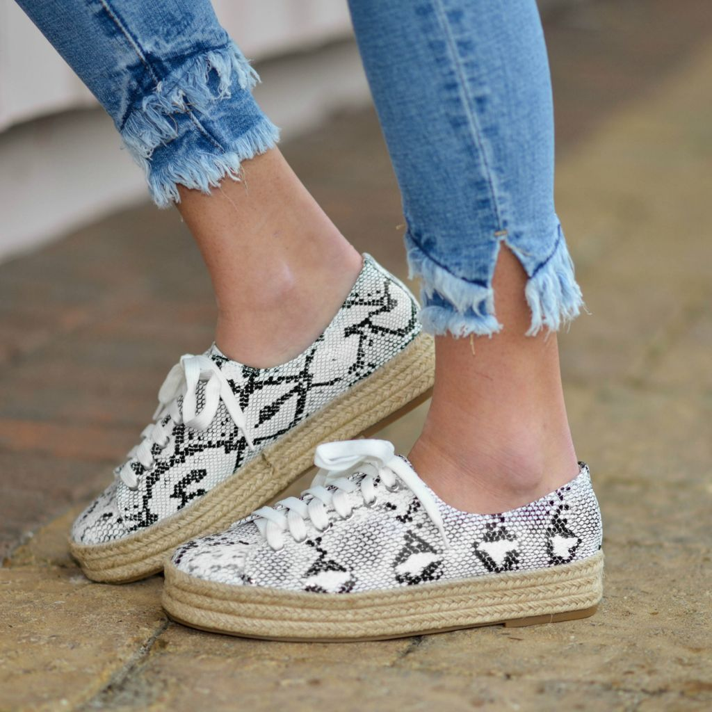 Shoes 54 On The Move Snake Print Espadrille