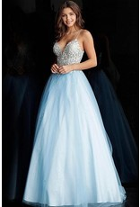 Dresses 22 Jovani Breathtaking Blue Formal Dress