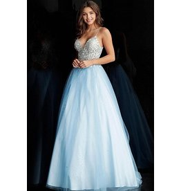 Dresses 22 Jovani Breathtaking Blue Formal Dress