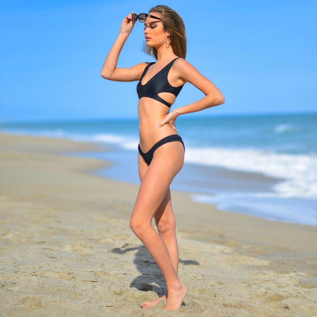 Swimsuits Nostalgia Black Bikini Bottom