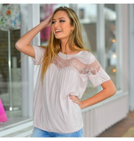 Tops 66 Live In The Sun Pink Lace Top