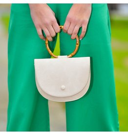 Accessories 10 White Bamboo Handle Clutch