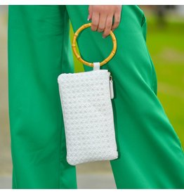 Accessories 10 White Bamboo Handle Bag