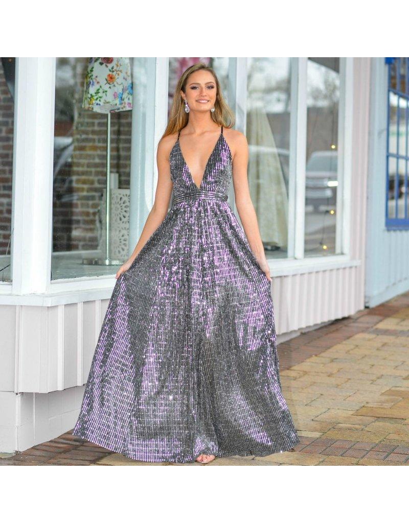 Formalwear Disco Shine Black Formal Dress