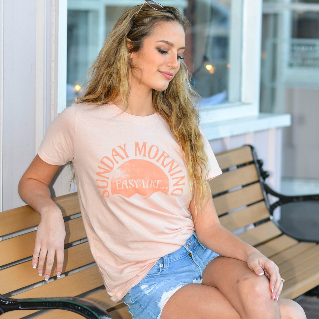 Tops 66 Easy Like Sunday Morning Tee