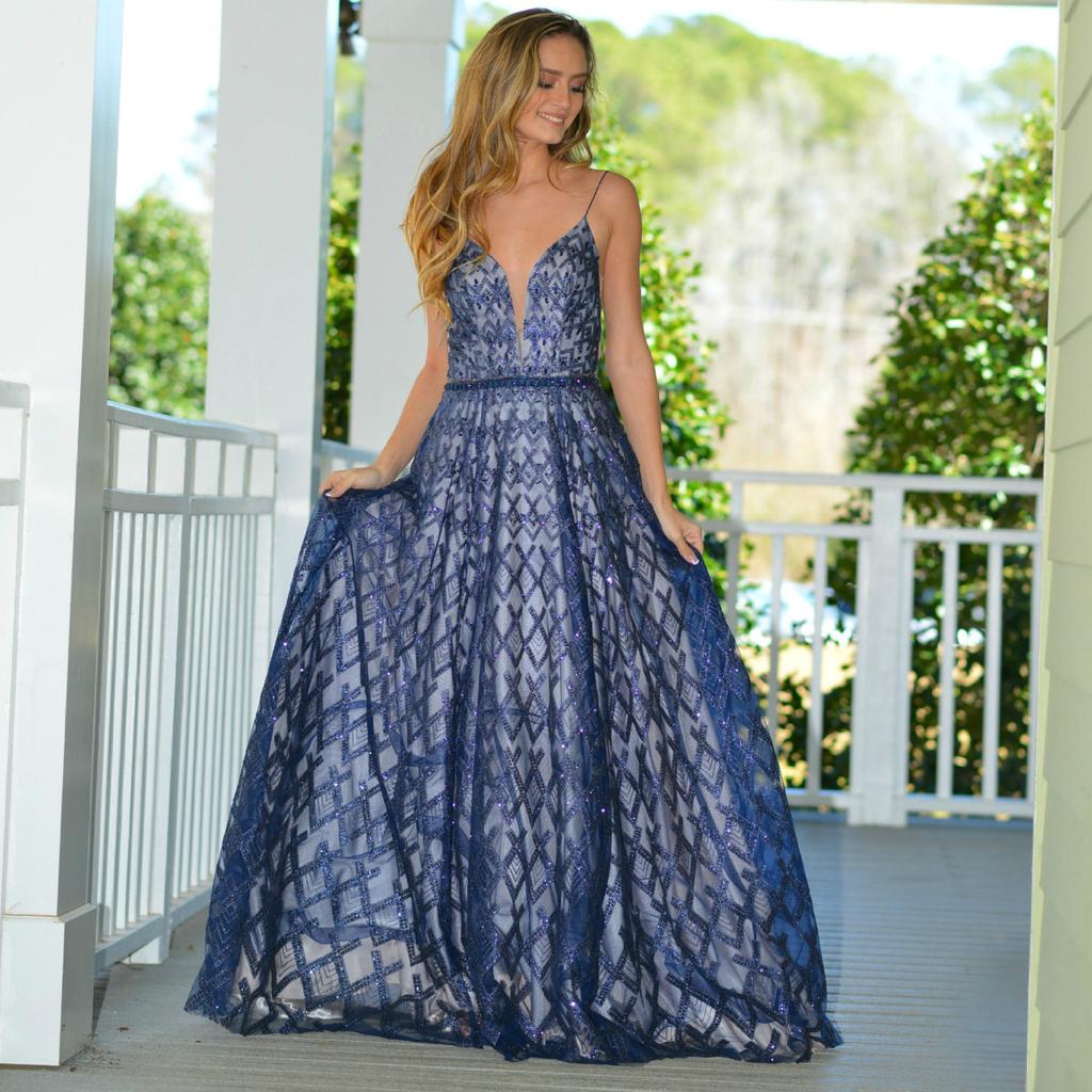 Formalwear Night To Remember Navy Formal Dress