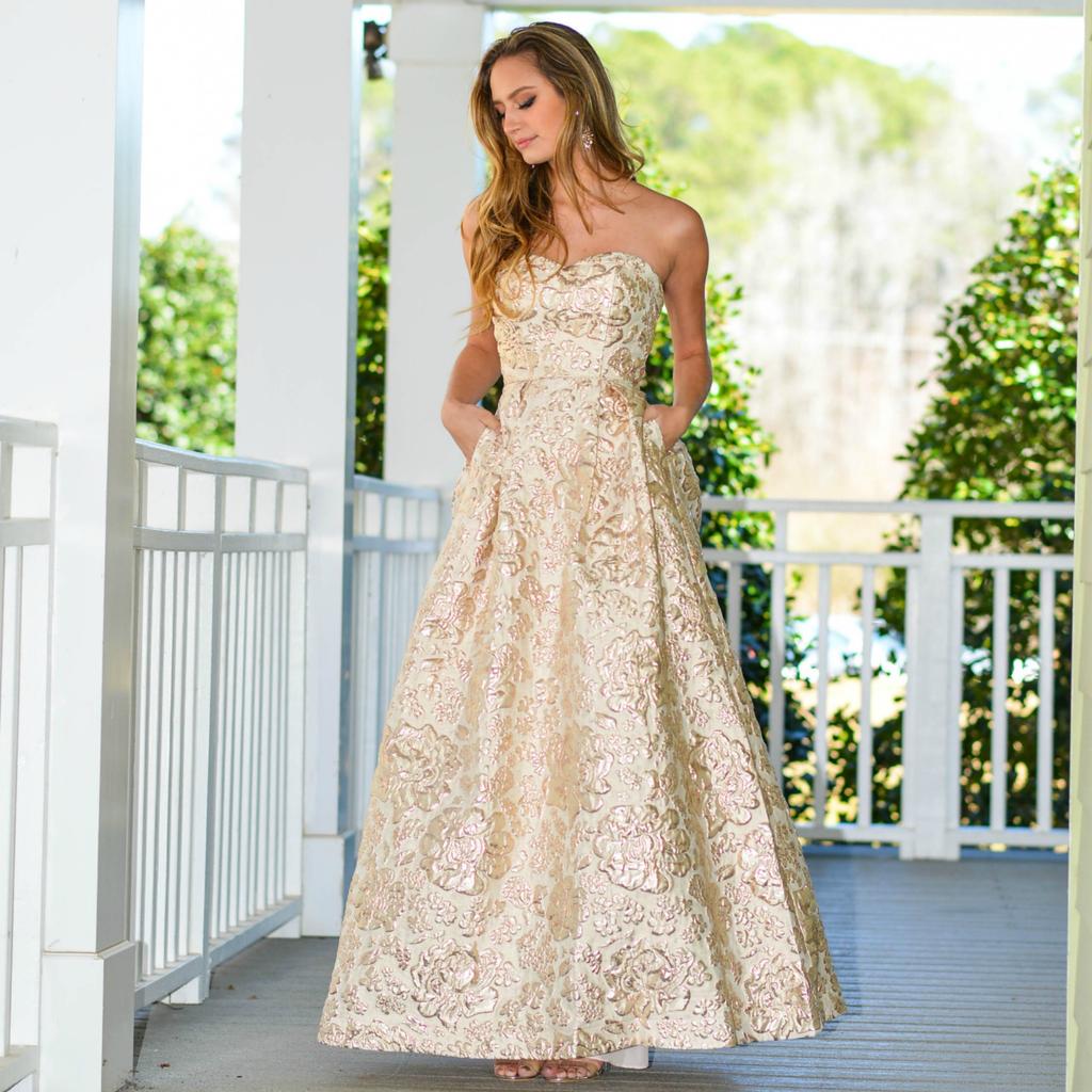 Formalwear Party Please Gold Formal Dress