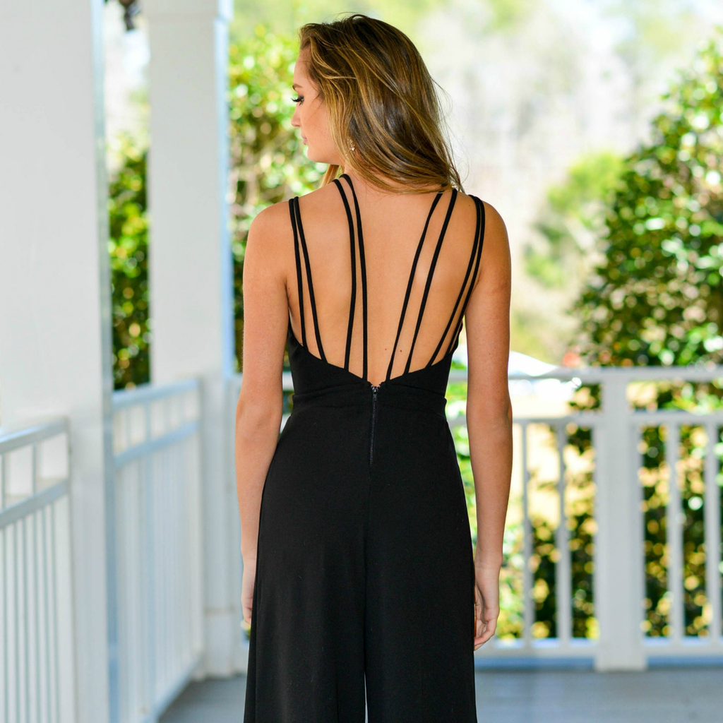 Jumpsuit Make An Appearance Strappy Jumpsuit