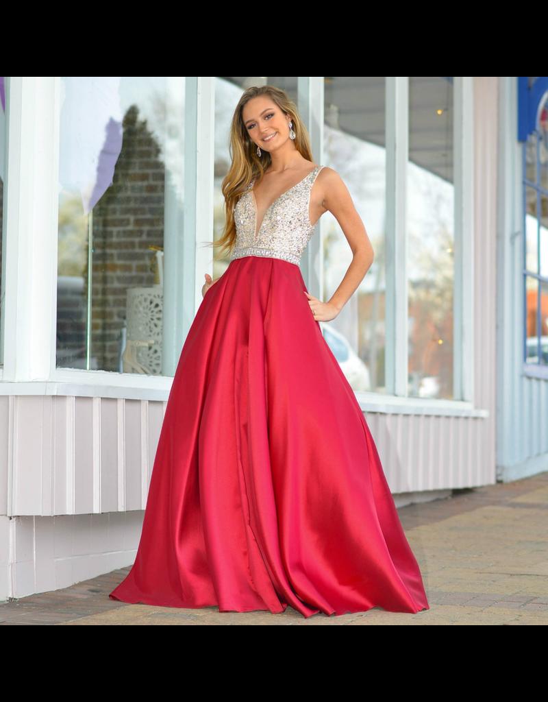 Formalwear Elegant Burgundy Formal Dress