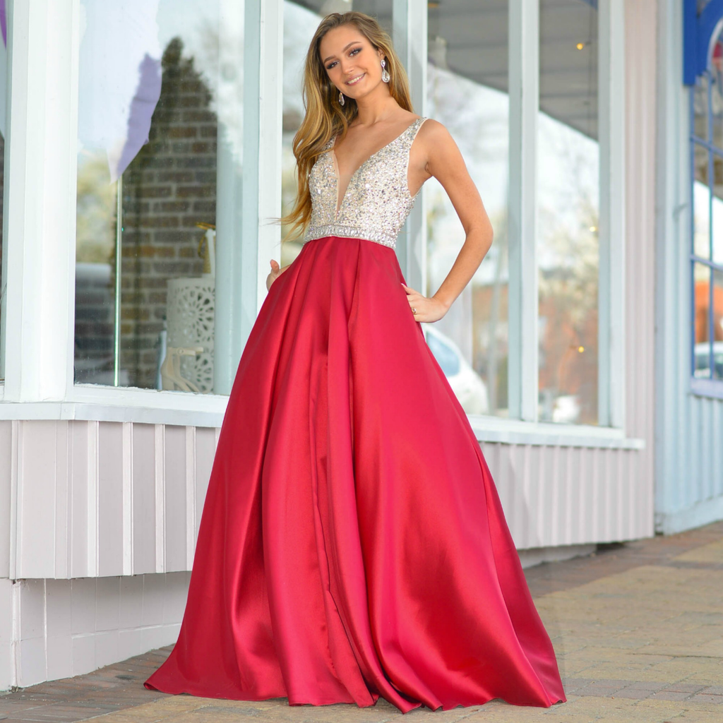 Formalwear Elegant Burgundy Formal Dress