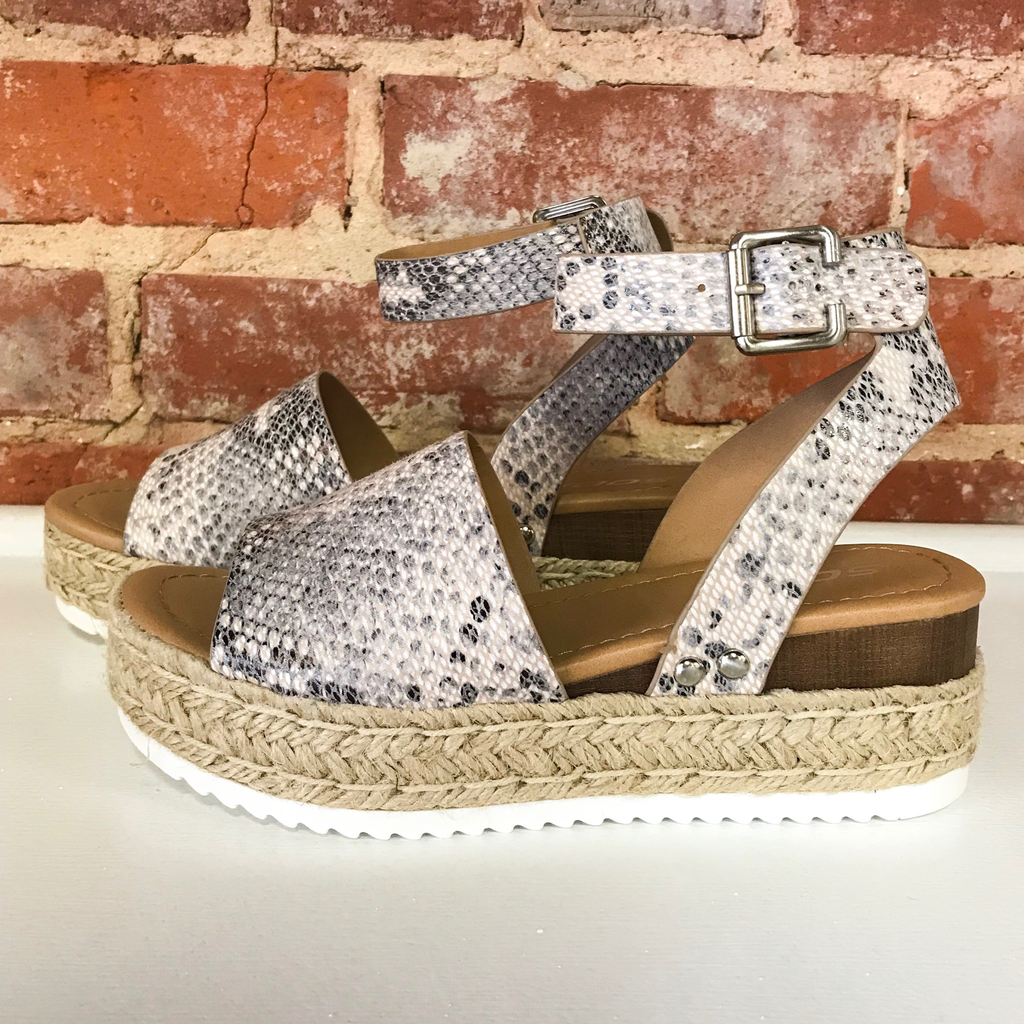 Shoes 54 Wild About You Snake Espadrilles