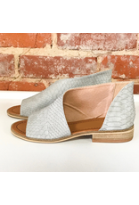 Shoes 54 Slip In Snake Texture Grey Sandal