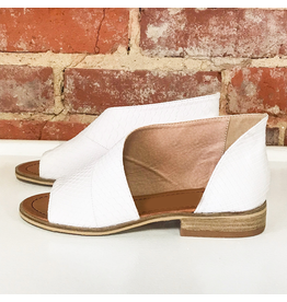 Shoes 54 Slip In Snake Texture White Sandal