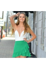 Shorts 58 Lucky Clover Green Ruffle Skirt