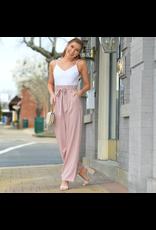 Jumpsuit Set On You Paperbag Waist Blush Jumpsuit