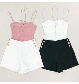 Shorts 58 Gold Button White Shorts