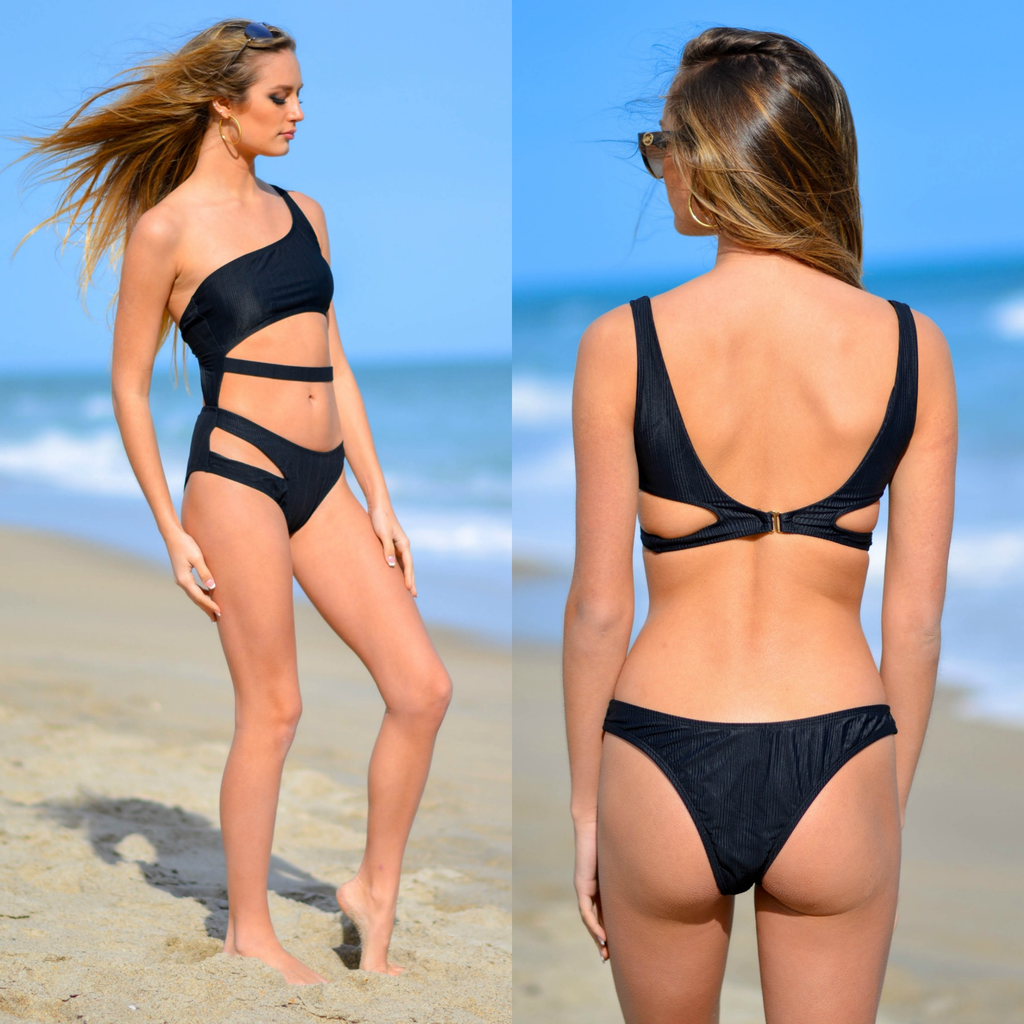 Swimsuits Adventure One Piece Black Swimsuit