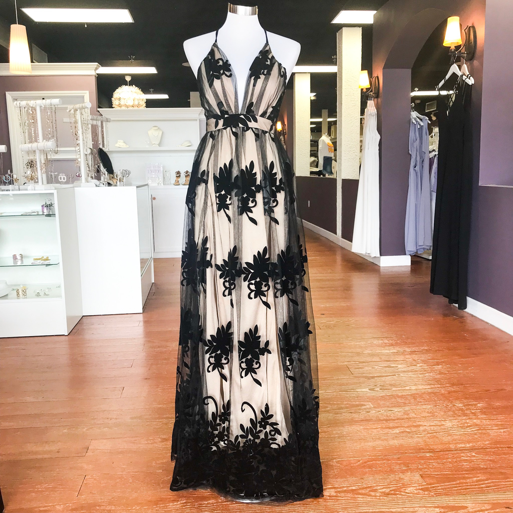 Formalwear Ever After Matters Black/Nude Tulle Formal Dress